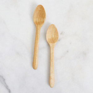 handcarved mango eating spoons