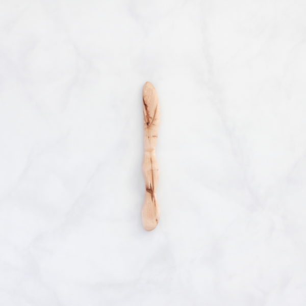 Hand carved maple wood butter knife