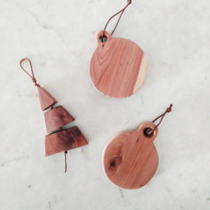 Handmade Wood Christmas Tree Ornament