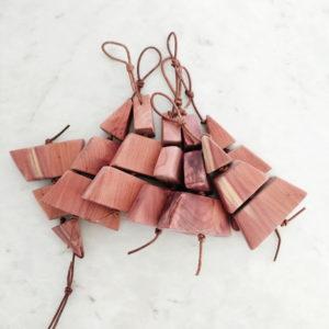Handmade Wood Christmas Tree Ornament