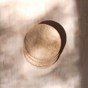 Textured Wood Plate Set